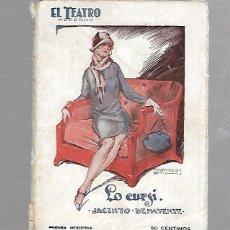 Libros de segunda mano: EL TEATRO MODERNO. LO CURSO. JACINTO BENAVENTE. AÑO III. Nº 89. Lote 74153095