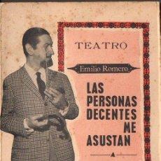 Libros de segunda mano: EMILIO ROMERO : HISTORIAS DE MEDIA TARDE - LAS PERSONAS DECENTES ME ASUSTAN (1964) CON FOTOGRAFÍAS. Lote 74969435