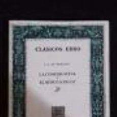 Libros de segunda mano: LA COMEDIA NUEVA O EL CAFE / EL MEDICO A PALOS -L. P. DE MORANTIN- CLASICOS EBRO-ZARAGOZA-. Lote 75257783