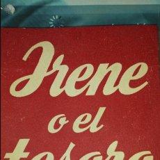 Libros de segunda mano: IRENE O EL TESORO- DE ANTONIO BUERO VALLEJO- COLECCIÓN TEATRO N°121 ED. ALFIL1955. Lote 75982966