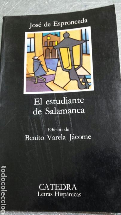 LIBRO EL ESTUDIANTE DE SALAMANCA DE ESPRONCEDA AÑO 90 (Libros de Segunda Mano (posteriores a 1936) - Literatura - Teatro)