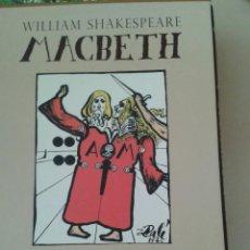 Libros de segunda mano: MACBETH SHAKESPEARE ILUSTRADO POR DALÍ, NOTAS J.M VALVERDE. 1946-2006 ED. PLANETA.. Lote 80693930