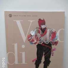 Libros de segunda mano: GRAN TEATRE DEL LICEU - RIGOLETTO - TEMPORADA 1994 / 95. Lote 84993828