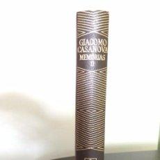 Libros de segunda mano: AGUILAR, MEMORIAS II, CASANOVA, 1982, 1ª EDICION. Lote 85187916