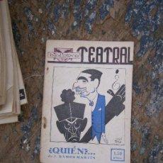 Libros de segunda mano: LIBRO ¿QUIEN? J. RAMOS BIBLIOTECA TEATRAL 1941 AÑO I NUM 5 L-14722. Lote 87747996