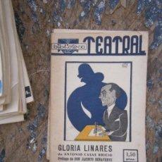 Libros de segunda mano: LIBRO GLORIA LINARES BIBLIOTECA TEATRAL 1941 AÑO I Nº12 L-14723. Lote 87748892