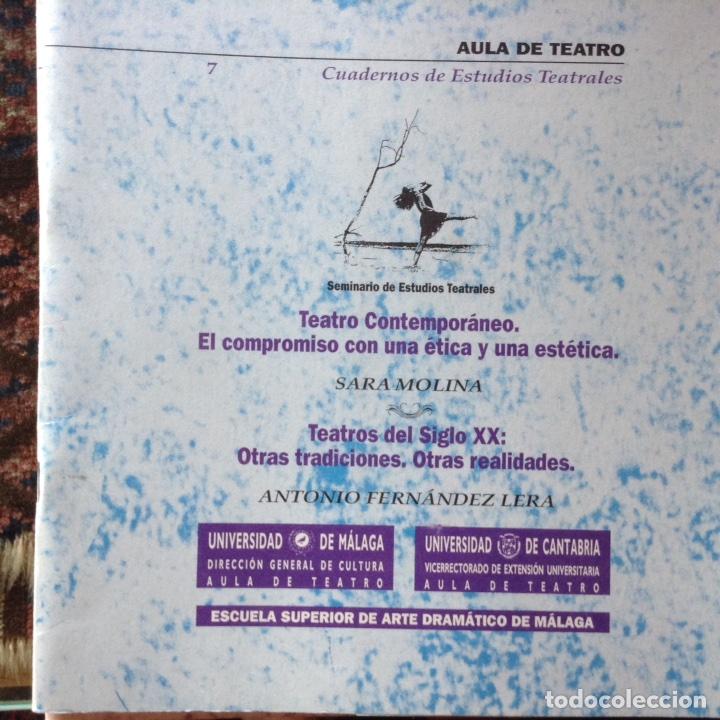 teatro contemporáneo. el compromiso con una éti - Comprar Libros de ...