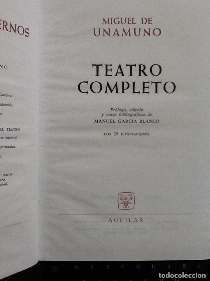 Libros de segunda mano: Miguel de Unamuno. Teatro completo - Foto 2 - 89607148