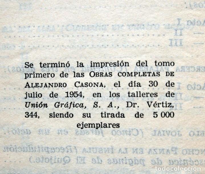 Libros de segunda mano: ALEJANDRO CASONA - AGUILAR - JOYA - MEXICO - OBRAS COMPLETAS - TOMO I - PIEL - Foto 4 - 90813935