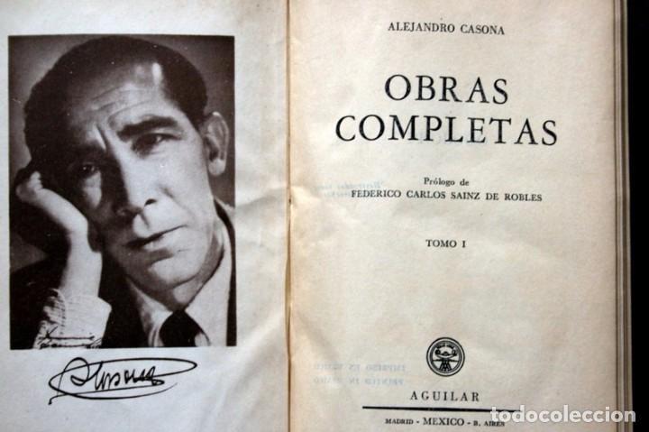 Libros de segunda mano: ALEJANDRO CASONA - AGUILAR - JOYA - MEXICO - OBRAS COMPLETAS - TOMO I - PIEL - Foto 7 - 90813935