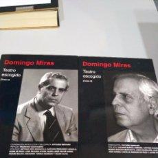 Libros de segunda mano: DOMINGO MIRAS. TEATRO ESCOGIDO (2 TOMOS). Lote 92884555