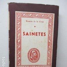 Libros de segunda mano: SAINETES. RAMON DE LA CRUZ. COLECCION CISNEROS. Nº 96. 173 PP.. Lote 92945715