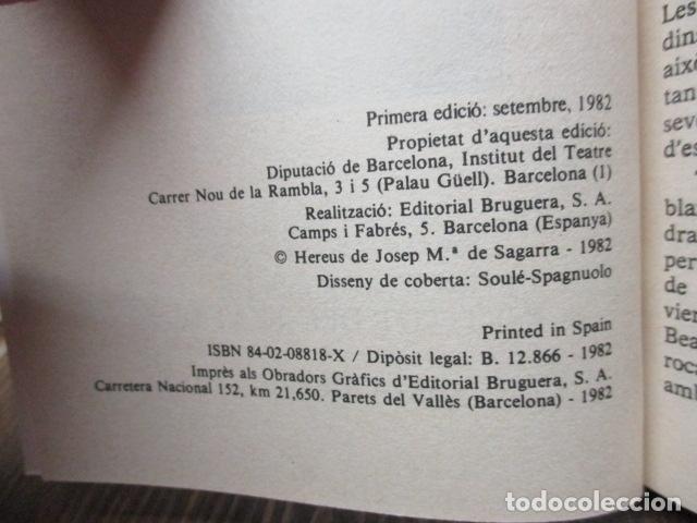 Libros de segunda mano: WILLIAM SHAKESPEARE - CIMBELÍ - PUBLICACIONS DE LINSTITUT DEL TEATRE / BRUGUERA, 1ª Edició 1982 - Foto 6 - 93054430