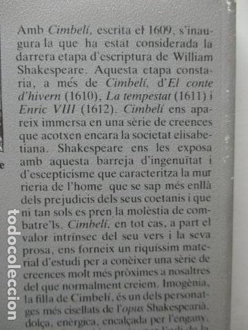 Libros de segunda mano: WILLIAM SHAKESPEARE - CIMBELÍ - PUBLICACIONS DE LINSTITUT DEL TEATRE / BRUGUERA, 1ª Edició 1982 - Foto 9 - 93054430