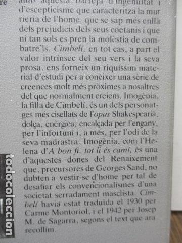 Libros de segunda mano: WILLIAM SHAKESPEARE - CIMBELÍ - PUBLICACIONS DE LINSTITUT DEL TEATRE / BRUGUERA, 1ª Edició 1982 - Foto 10 - 93054430