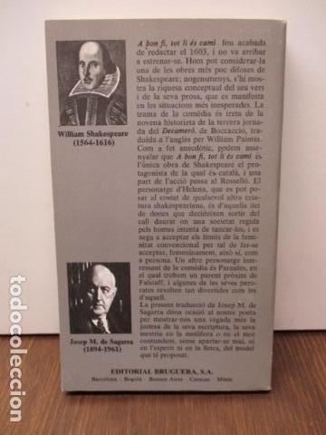 Libros de segunda mano: a bon fi , tot li és camí - shakespeare teatre - Foto 6 - 93131680