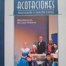 Libros de segunda mano: ACOTACIONES 29. LUCÍA VILANOVA. JARDIEL. XIRGU. BROADWAY. REVISTA TEATRO. Lote 95673455