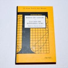 Libros de segunda mano: BODAS DE SANGRE – LA CASA DE BERNARDA ALBA. Lote 95793539