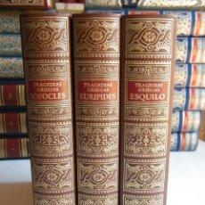 Libros de segunda mano: TRAGEDIAS GRIEGAS (ESQUILO, EURÍPIDES Y SÓFOCLES) - EDICIONES ANTIGUAS - BARCELONA (1982). Lote 113472687