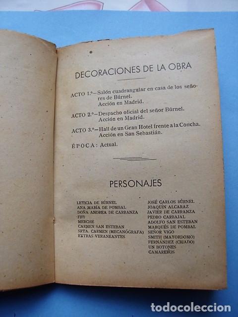 Libros de segunda mano: LIBRO ¿DEMASIADO TARDE …? COMEDIA EN TRES ACTOS DE JOSÉ MARÍA MALGOR. 1941 - Foto 5 - 97946935