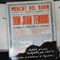 Libros de segunda mano: L'ASSEMBLEA DE TREBALLADORS DE L'ESPECTACLE: MERCAT DEL BORN DIVENDRES 19 DISSABTE 20 I DIUMENGE 21 . Lote 98168331