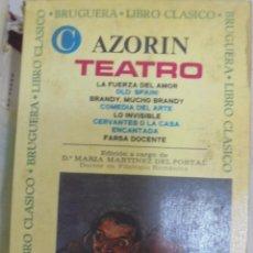 Libros de segunda mano: AZORIN. TEATRO. LIBRO CLASICO DE BRUGUERA. 1º EDICION. 1969. Lote 98848799