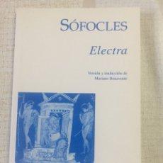 Libros de segunda mano: SÓFOCLES. ELECTRA. EDICIONES CLÁSICAS. 1995. Lote 99982452