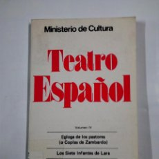 Libros de segunda mano - TEATRO ESPAÑOL VOLUMEN IV. MINISTERIO DE CULTURA. TDK318 - 100368959