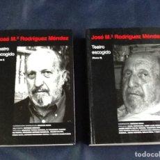 Libros de segunda mano: TEATRO ESCOGIDO. TOMOS 1 Y 2. JOSE MARIA RODRIGUEZ MENDEZ. Lote 106799459