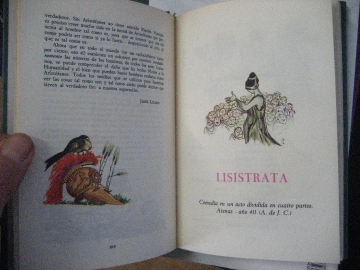 Libros de segunda mano: COMEDIAS ARISTOFANES.LISISTRATA-LA ASAMBLEA DE LAS MUJERES.EDICIONES MARTE BARCELONA.ILUSTRA SERAFIN - Foto 4 - 107292895
