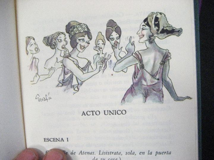 Libros de segunda mano: COMEDIAS ARISTOFANES.LISISTRATA-LA ASAMBLEA DE LAS MUJERES.EDICIONES MARTE BARCELONA.ILUSTRA SERAFIN - Foto 5 - 107292895