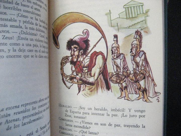 Libros de segunda mano: COMEDIAS ARISTOFANES.LISISTRATA-LA ASAMBLEA DE LAS MUJERES.EDICIONES MARTE BARCELONA.ILUSTRA SERAFIN - Foto 8 - 107292895