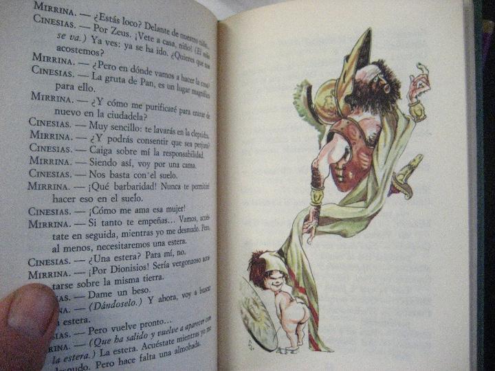 Libros de segunda mano: COMEDIAS ARISTOFANES.LISISTRATA-LA ASAMBLEA DE LAS MUJERES.EDICIONES MARTE BARCELONA.ILUSTRA SERAFIN - Foto 9 - 107292895