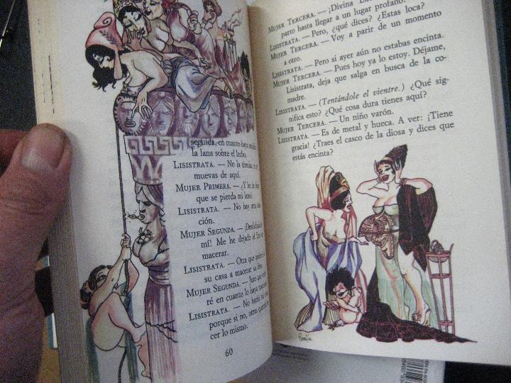 Libros de segunda mano: COMEDIAS ARISTOFANES.LISISTRATA-LA ASAMBLEA DE LAS MUJERES.EDICIONES MARTE BARCELONA.ILUSTRA SERAFIN - Foto 10 - 107292895