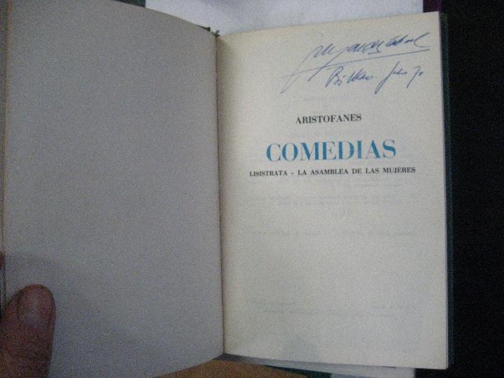 Libros de segunda mano: COMEDIAS ARISTOFANES.LISISTRATA-LA ASAMBLEA DE LAS MUJERES.EDICIONES MARTE BARCELONA.ILUSTRA SERAFIN - Foto 2 - 107292895