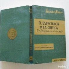 Libros de segunda mano: FRANCISCO ÁLVARO. EL ESPECTADOR Y LA CRÍTICA. EL TEATRO EN ESPAÑA EN 1981. RC567.. Lote 108363847