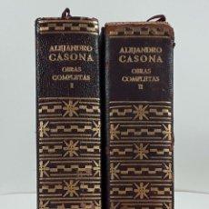 Libros de segunda mano: OBRAS COMPLETAS. ALEJANDRO CASONA. II TOMOS. ED. AGUILAR. 1967.. Lote 148887118