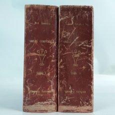 Libros de segunda mano: OBRAS COMPLETAS. JOSÉ ZORRILLA. II TOMOS. LIBRERÍA SANTARÉN. 1943.. Lote 111558295