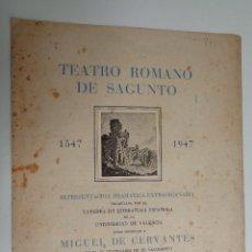 Libros de segunda mano: TEATRO ROMANO DE SAGUNTO. REPRESENTACION CATEDRA LITERATURA UNIVERSIDAD DE VALENCIA.775. Lote 111730091