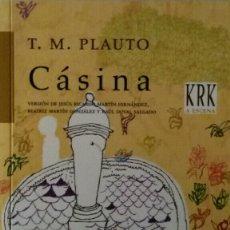 Libros de segunda mano: CÁSINA PLAUTO. Lote 111796420