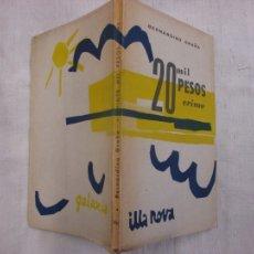 Libros de segunda mano: BERNARDINO GRAÑA - 20 MIL PESOS CRIME. PEZA DRAMÁTICA EN CINCO CADROS - EDI GALAXIA 1ª 1962 INTONSO. Lote 112366943