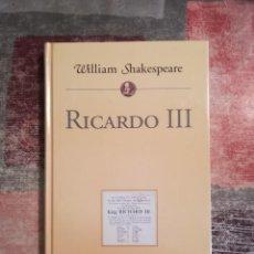 Libros de segunda mano: RICARDO III - WILLIAM SHAKESPEARE - PLANETA DE AGOSTINI. Lote 115108503