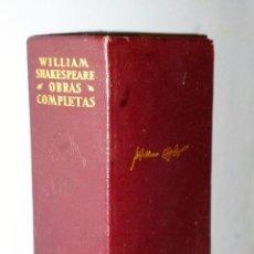 Libros de segunda mano: OBRAS COMPLETAS DE WILLIAM SHAKESPEARE. Lote 115261171