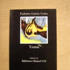 Libros de segunda mano: YERMA - FEDERICO GARCÍA LORCA. Lote 116334771