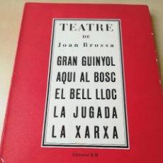 Libros de segunda mano: TEATRE DE JOAN BROSSA-TITULOS EN PORTADA-5- EDITORIAL RM-1964. Lote 117300031