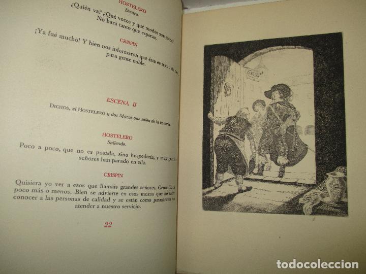 Libros de segunda mano: LOS INTERESES CREADOS. Comedia de polichinelas en dos actos, tres cuadros y un prólogo. - BENAVENTE, - Foto 9 - 117912095