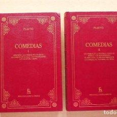 Libros de segunda mano: PLAUTO - COMEDIAS. 2 TOMOS - GREDOS. Lote 118245043