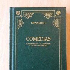 Libros de segunda mano: MENANDRO - COMEDIAS - GREDOS. Lote 118515047