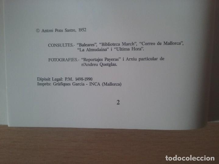 Libros de segunda mano: SON PONCELLA. ANTONI PONS SASTRE. - Foto 2 - 119345511