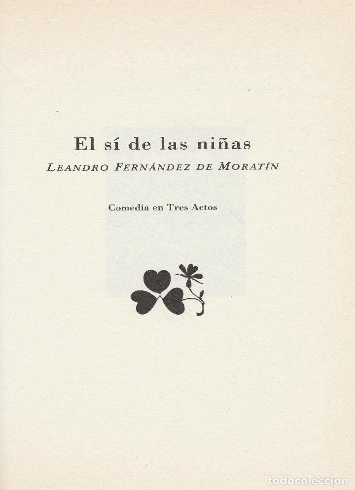 Libros de segunda mano: El sí de las niñas. La comedia nueva (1996), de Leandro Fernández de Moratín. Ediciones Rueda J. M. - Foto 4 - 251548185